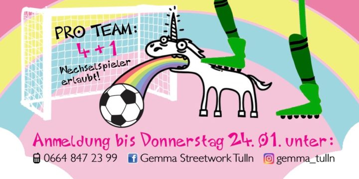An alle Fußballerinnen und Fußballer >>> am 26.1. findet wieder unser berühmt berüchtigter Gemma! Indoor CUP statt!!!