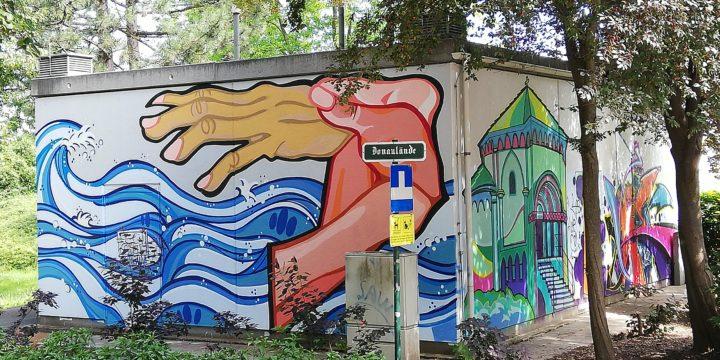 Gemma machma was für die Augen 🤩 – Jugendliche verhübschen die Donaulände 🎨 Streetart-Style, yeah!